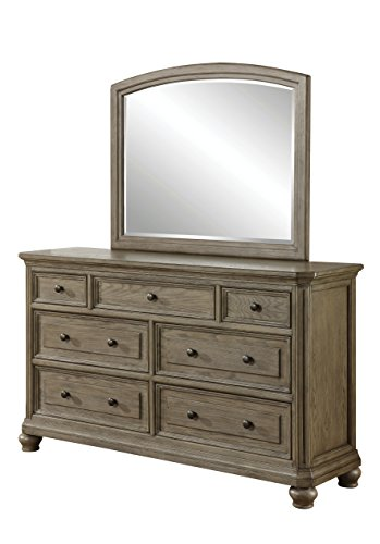 Wood Dresser N Mirror (HOMES: Inside + Out IDF-7719-DM Willana Dresser Mirror Transitional)