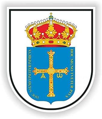 Calcomanía Escudo de Asturias Escudo de Armas de 9,2 cm, 11,1 cm ...