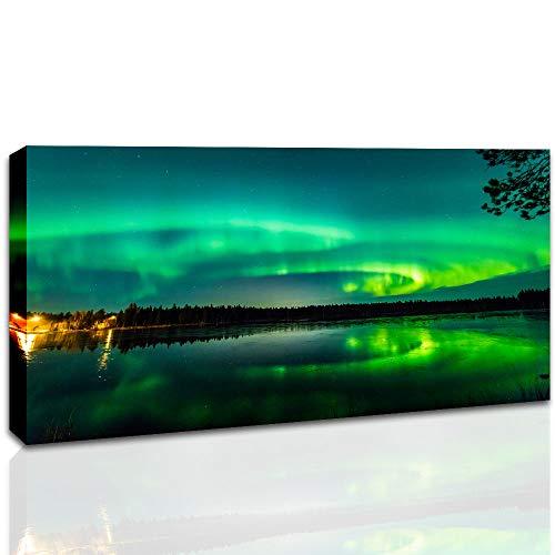 Aurora Borealis Canvas Wall Art Northern Lights Artwork Aurora Night Sky Prints Picture for Bedroom Living Room Decor 20x40 Inch