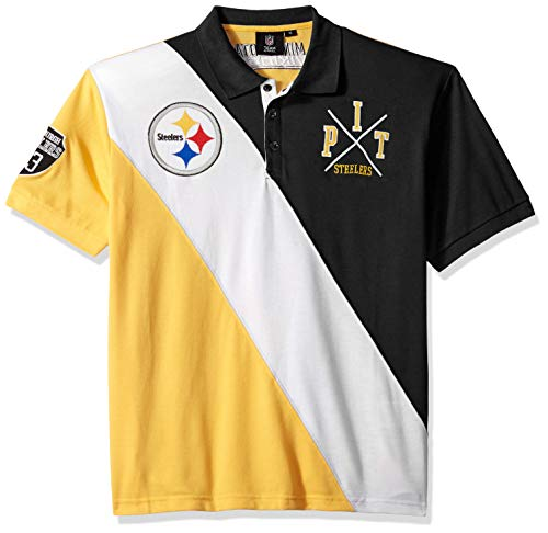 - Pittsburgh Steelers Cotton Rugby Polo Diagonal Stripe Large