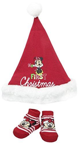 - Disney Baby-Girls Newborn Minnie My 1St Christmas Set, Red, 0-6 Months