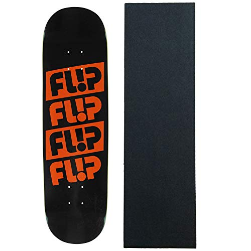 "Flip Skateboard Deck Odyssey Quatttro Black 8.25"" with Grip"