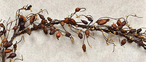 (Country Crafts Dried Rose Hip Garland - 4' FISB3598)