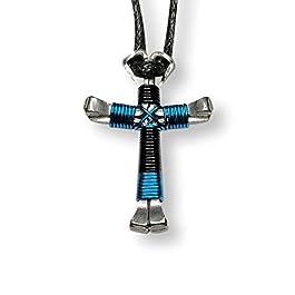 Sport Horseshoe Nail Cross Necklaces – You Pick Colors!