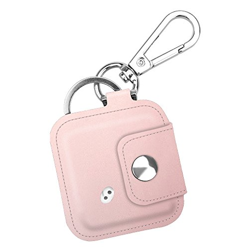 Fintie Tile Mate/Sport/Style Case with Carabiner Keychain, Anti-Scratch Vegan Leather Protective Skin Cover for Tile Mate (2016 Release), Tile Sport, Tile Style Key Finder Phone Finder, Rose Gold