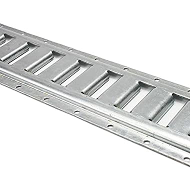 2 Pack - 8' Horizontal E Track - Galvanized - 12 Guage Steel - Used in Interior Van Trailer for Tie Down