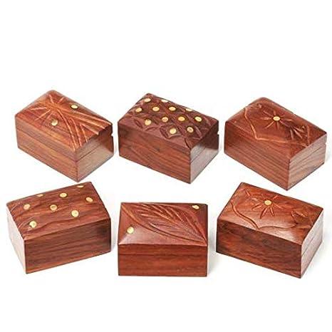 Amazon.com: Juego de cajas de madera de Song of India/12 ...