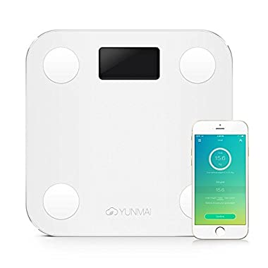 YUNMAI Precision Smart Body Scale Bluetooth Tracks BMI BMR Bone Mass Fat Monitor Scale with Smartphone App Body Scale Analyzer