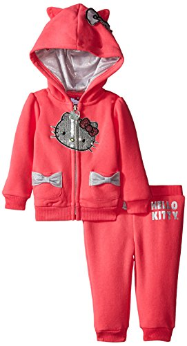 Hello Kitty Code (Hello Kitty Baby Girls' 2pc Hoodie and Pant Set, Pink, 6-9)
