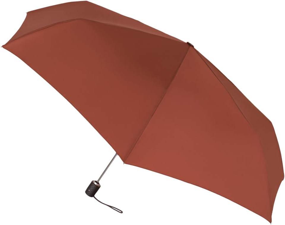 Paraguas Vogue Plegable automático con protección Solar (FPS +30). Antiviento y Acabado Teflón Que repele el Agua. (Rojo Caldera)