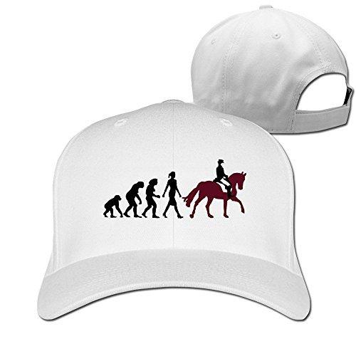 Sport Evolution Reiterin Cotton Baseball Cap Peaked Hat Adjustable For Unisex White By Henyz