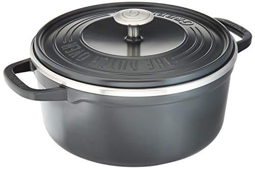 GreenPan CC001928-001 SimmerLite 1 Dutch Oven with Lid 4.5 qt. Slate