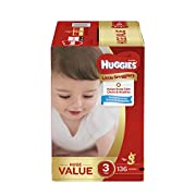 Huggies Little Snugglers Baby Diapers, Size 3, 136 Count, Huge Pack (Packaging May Vary)