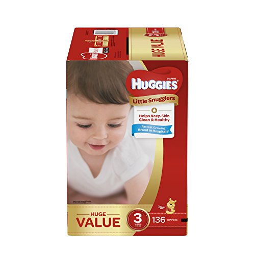 Huggies Little Snugglers Baby Diapers, Size 3, 136 Count,