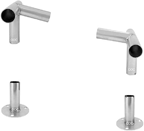ODC Lean-to Slant-roof Low Peak Canopy Fittings Kit for Greenhouse, Shelter, Canopy, Deck, Carport, Tent, Shade, Frame Footpads Included Extra Section Pack