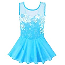 Baohulu Toddlers Dancing Cosplay Tutu Ballet Leotard For Girls 3 12 Years Cerulean Blue 4 5 Years