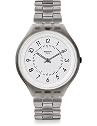 SWATCH UNISEX STEEL BRACELET PLASTIC CASE SWISS QUARTZ ANALOG WATCH SVUM101G