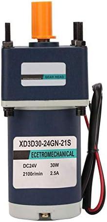 SSY-YU DC24Vギアモーター、30W XD3D30-24GN-21S CW/CCW永久磁石モーター調節可能な減速ギアモーター(170RPM) 電動工具用