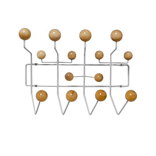 Mod Made Mid Century Modern Bubble Wall Mounted Coat Rack, Natural