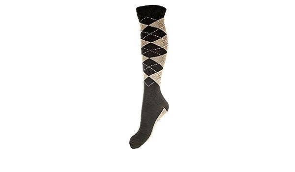 Hkm - Calcetines de equitación Intenso Calcetines, Todo el año, Hombre, Color marrón Oscuro/Beige, tamaño 39-42: Amazon.es: Deportes y aire libre