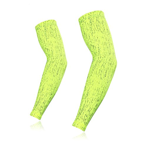 Men Women Wicking Bike Bicycle Cycling Arm Warmers Running Reflective Arm Sleeves Leggings Fluorescence - Warmers Arm Ladies Cycling