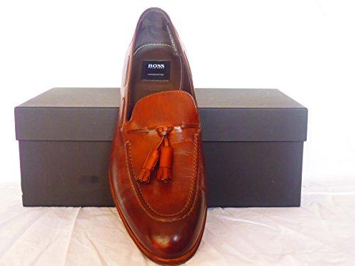 Hugo Boss Herren Schuhe,Hugo Boss Luxiss Mokassins Braun Größe;10 Echte Leder