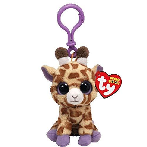 Ty Beanie Boos Big Eyes Plush Dog Keychain Doll Unicorn Penguin Leopard Owl Monkey Clip Toys 4