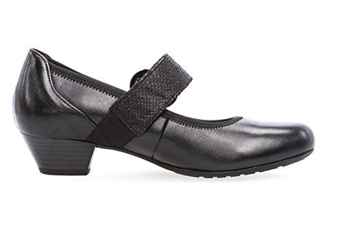 Spangenpumps Damen Gabor Übergrößen Schuhe in Schwarz 6qO5PwA