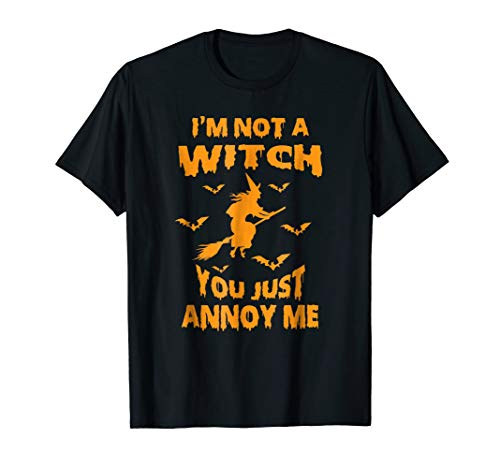 (Funny Im Not A Witch Bruja Bats Witchcraft Costume)