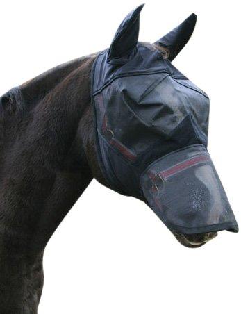 Kerbl 321273 Masque de protection anti-insectes avec protection des oreilles et du chanfrein pour poney
