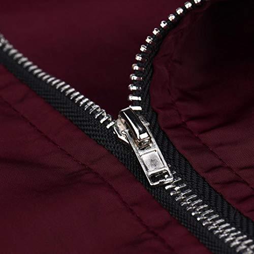 Femme Femme Manteaux Coutures Matelass Aviateur Blouson YUYOUG Jacket Cool Veste Mode Classique Bomber TUUqdwFO