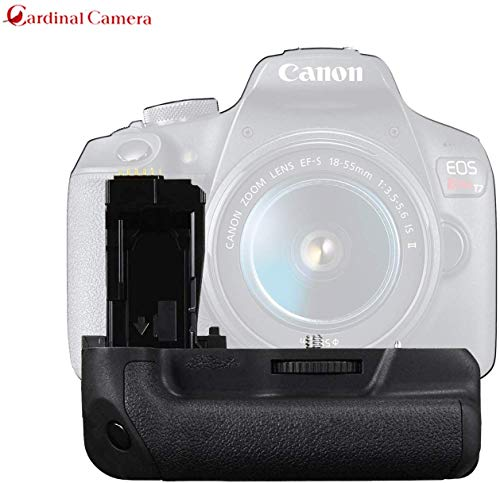 Pro Camera Battery Grip Replacement for Canon EOS Rebel T7, Rebel T6, Rebel T5 DSLR Camera from Cardinal Camera