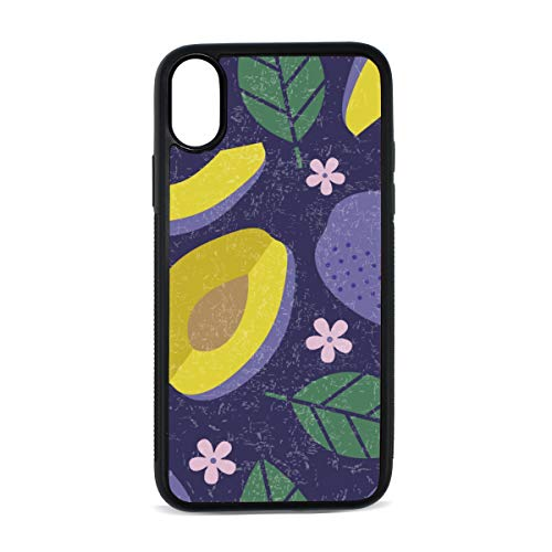 (Case for iPhone Word Plum Snack Food Dried Fruit Blue Digital Print TPU Pc Pearl Plate Cover Phone Hard Case Cell Phone Accessories Compatible with Protective Apple Iphonex/xs Case 5.8 Inch)