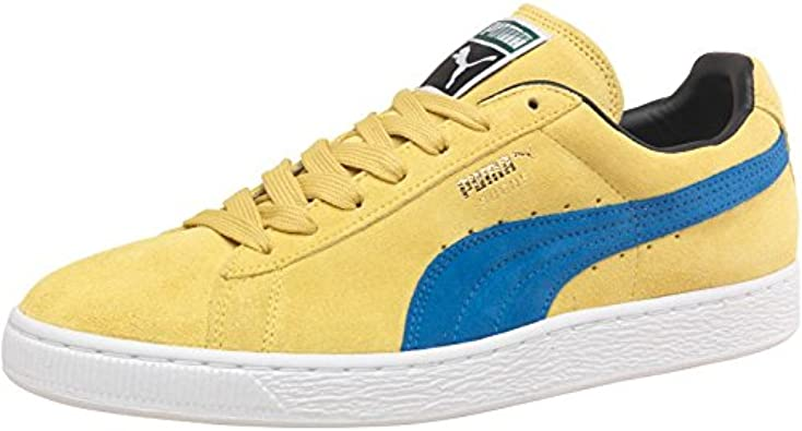 Puma Mens Suede Classic Trainers Green/Blue - Yellow/Blue ...