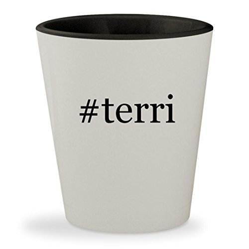#terri - Hashtag White Outer & Black Inner Ceramic 1.5oz Shot - Terry Richardson Glasses