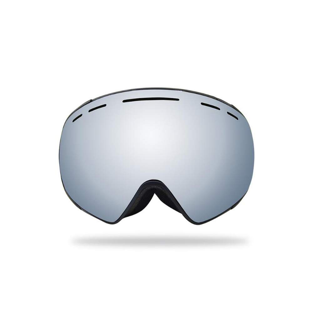 He-yanjing Ski Goggles Winter Snow Sports Snowboard Goggles ,Youth Boys Girls , Anti-Fog Snowboard Goggles, (Color : Silver) by He-yanjing