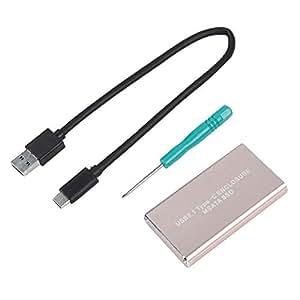 Amazon.com: V BESTLIFE USB 3.1 Tipo C a MSATA HDD portátil ...