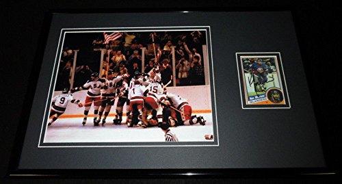 Ken Morrow Signed Framed 11x17 Photo Display Miracle on Ice 1980 Team USA Hockey