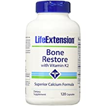 Life Extension Bone Restore With Vitamin K2, 120 Caps (2-Pack)