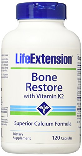 Life Extension Bone Restore With Vitamin K2  120 Caps  2 Pack
