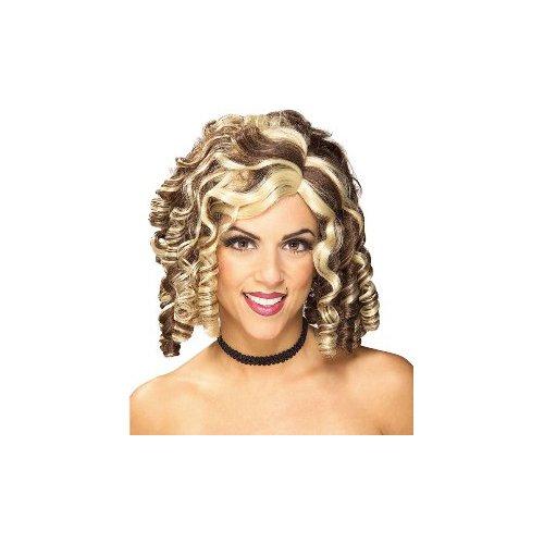 Rubie's Costume Banana Curl 2-Tone Wig, Brown, One Size - Banana Curl Wig