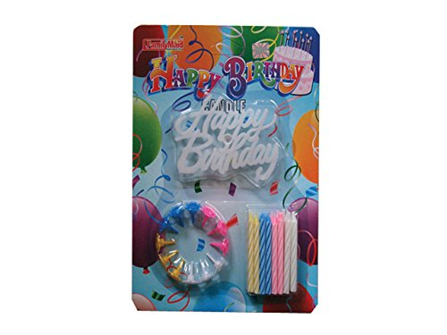 Happy Birthday Candle Set 24/BX 144/CTN Celebrate Birthdays With Festive Decorations & Candles, Case of 144