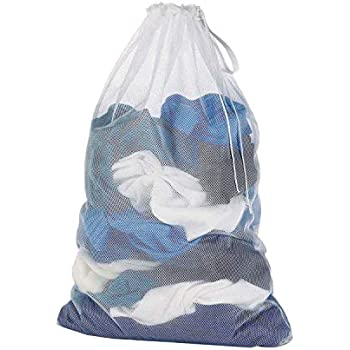 Amazon.com: Mesh Laundry Bag Heavy Duty Storage Hanging Commercial With Drawstring Machine