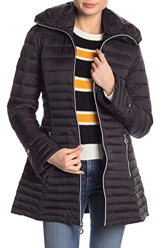 Laundry Coat Quilted (Laundry by Shelli Segal Womens Jacket, M, Black)