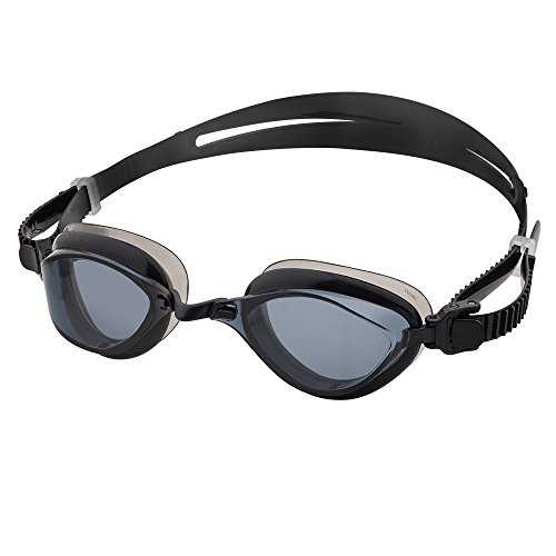 Barracuda Swim Goggle Fenix - Patented TriFushion System, Anti-Fog UV Protection, Easy Adjusting Quick Fit, Lightweight Comfortable No Leaking, Competition for Adults Men Women #72755 (Black-N)