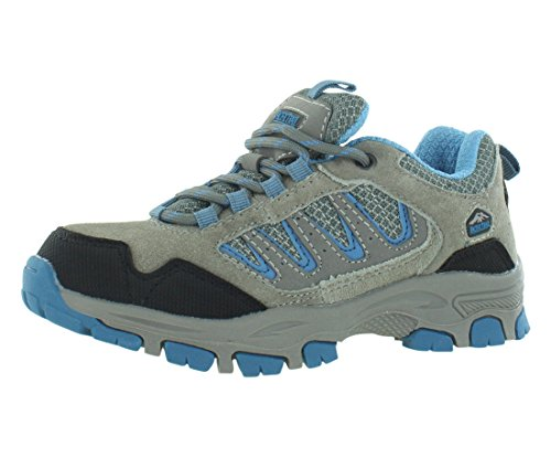 Image of Pacific Trail Alta Jr Boys Hiking Boots Size US 3.5, Regular Width, Color Grey/Blue
