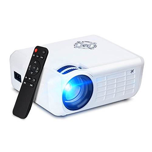 Fuleadture Portable LED Projector, 1080P HD Multimedia Home Theater Video LCD Projector Supporting HDMI, USB, SD Card, AV for Home Cinema, TV, Laptops, Games with HDMI Cable