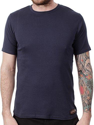 West Coast Choppers Jesse James Navy Sturdy Work T-Shirt (S, Navy) (Jesse Work Shirts)