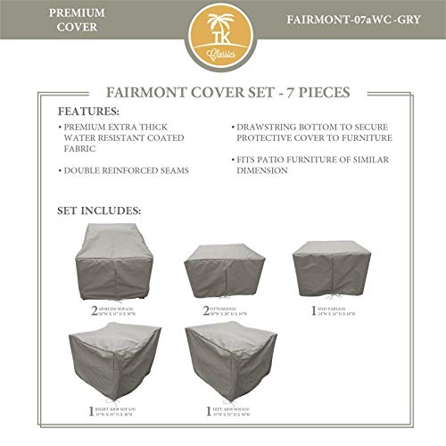 TK Classics FAIRMONT-07a Protective Cover Set in Gray