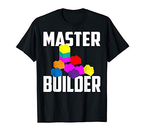Master Builder Shirt | Cute Master Block Builder Bricks Gift
